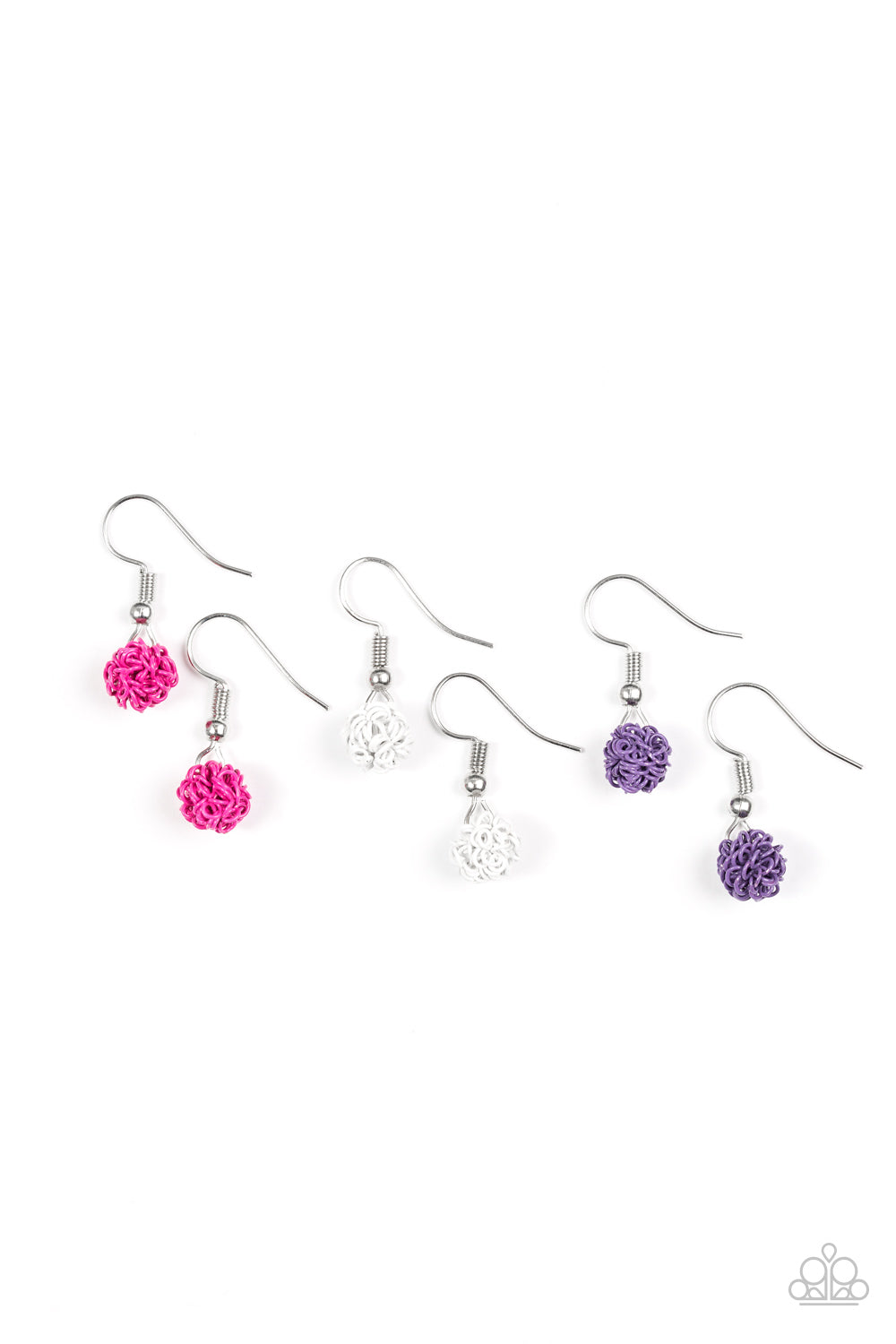 Abstract Bead Earrings - Paparazzi Starlet Shimmer - Pink Dragon Jewels
