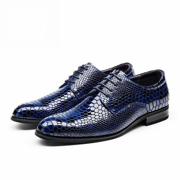 Mens casual oxford shoes - blue / 7.5 - men shoes