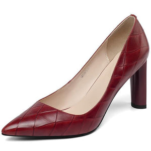 Party or wedding sexy high heels pumps shoes-wine red