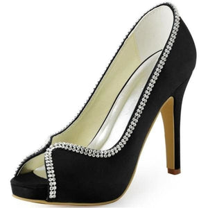 Women bridal high heel platform shoes