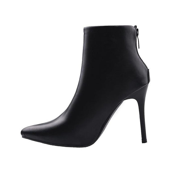 Women Chelsea ankle Boots-black