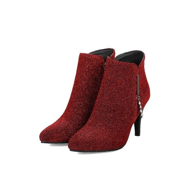 Women work thin heels ankle boots