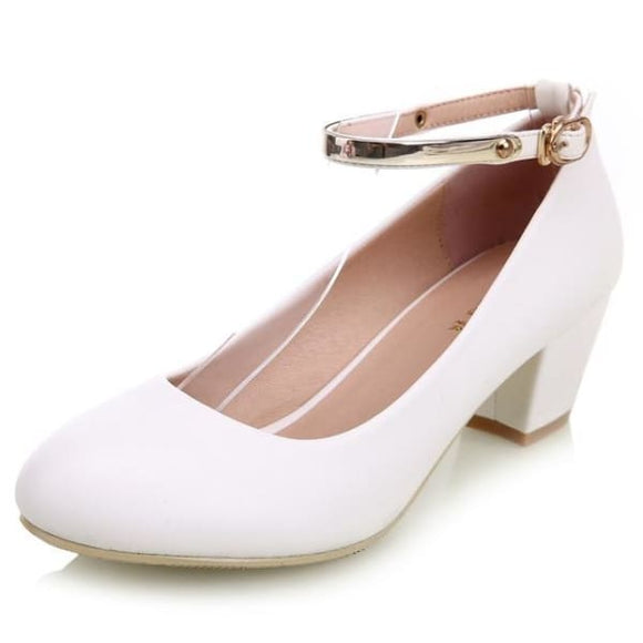 Women's low square heel sexy pumps shoes
