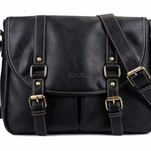 Leather business casual bag for men - Black / China