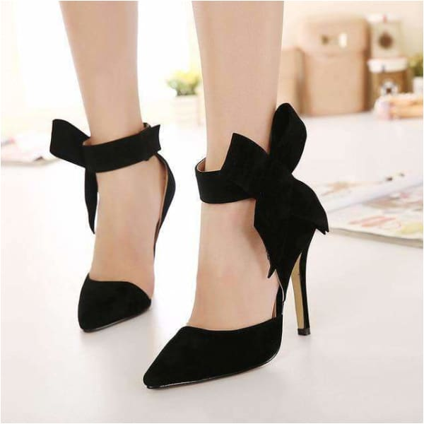 High heel womens sandals with Butterfly-knot