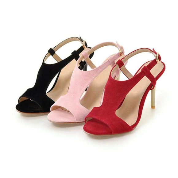 Thin heel womens casual sandals - sandals