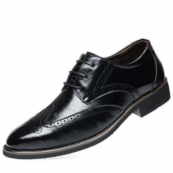 Genuine Leather Classic Brogue Shoes