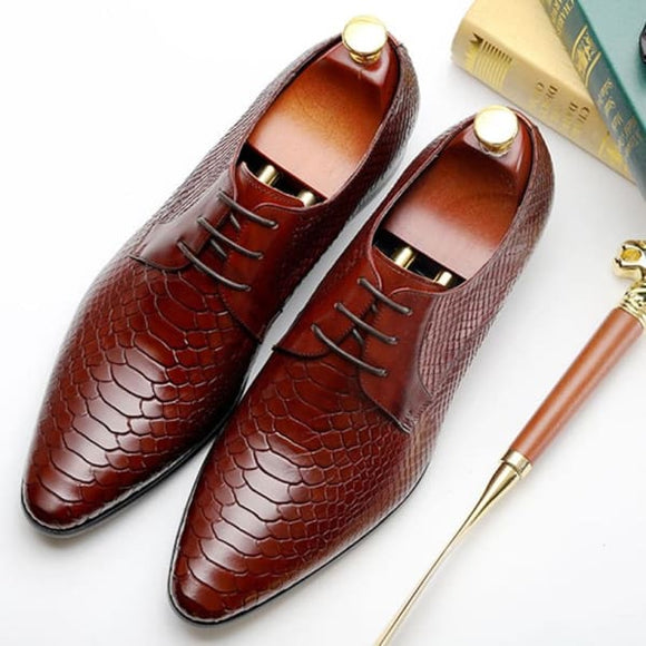 Men lace up dress oxford shoes - men shoes