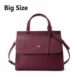 Litchi Grain Shoulder Crossbody Bags for women - Purple Red Big / China
