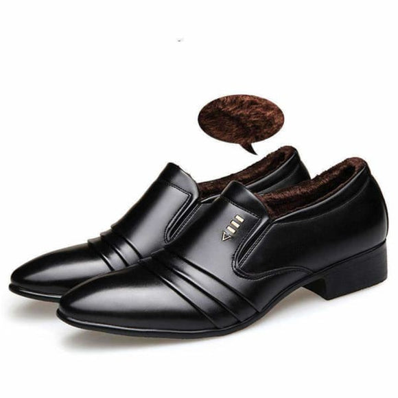 Fashion men business  black dress loafers shoes