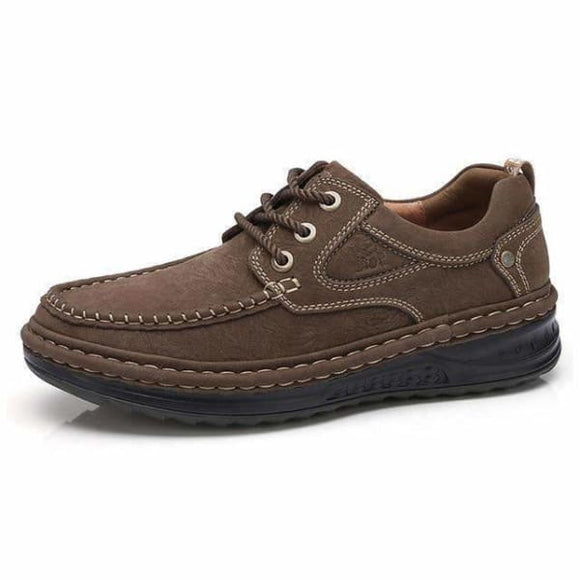 Genuine leather casual mens shoes