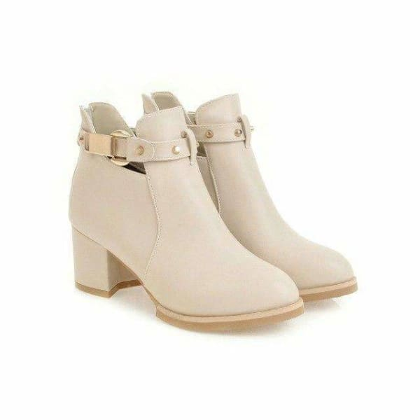 Women square heel ankle boots