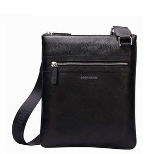 Leather men's crossbody shoulder bags