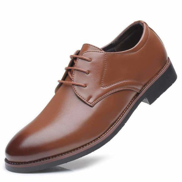 Mens lace up dress shoes brown/black
