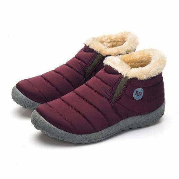 Men winter snow boots - 816 Red / 6.5