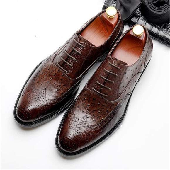 Vintage flat oxford mens casual shoes