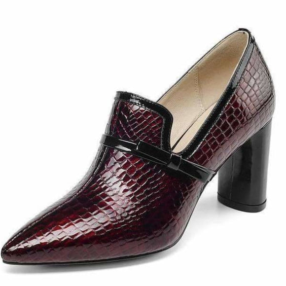 Genuine leather womens Pumps Shoes