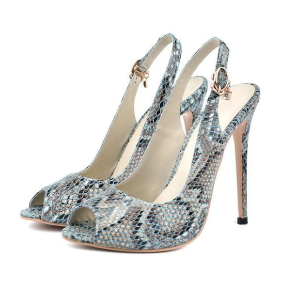 Slingback lady party sandals peep toe