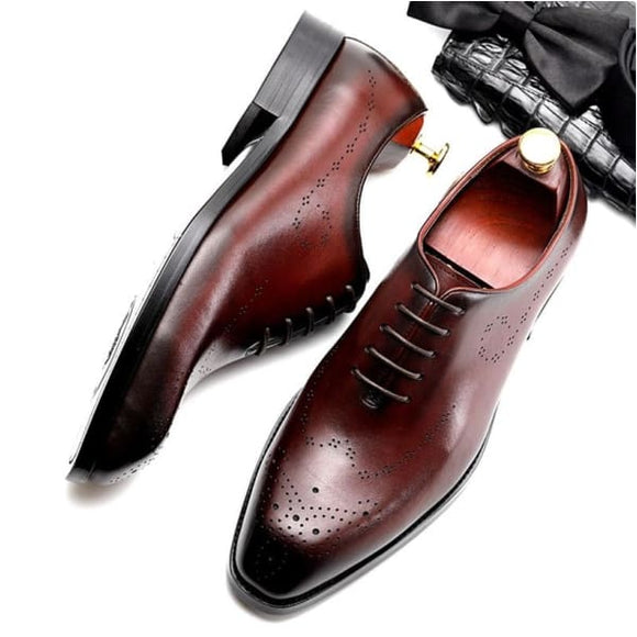 Men's dress lace up oxford shoes