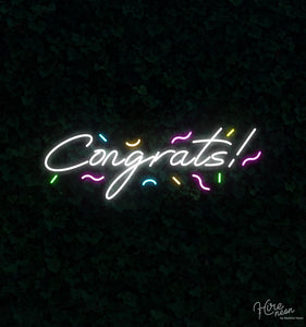 Congrats! | Hire Neon Signs NZ