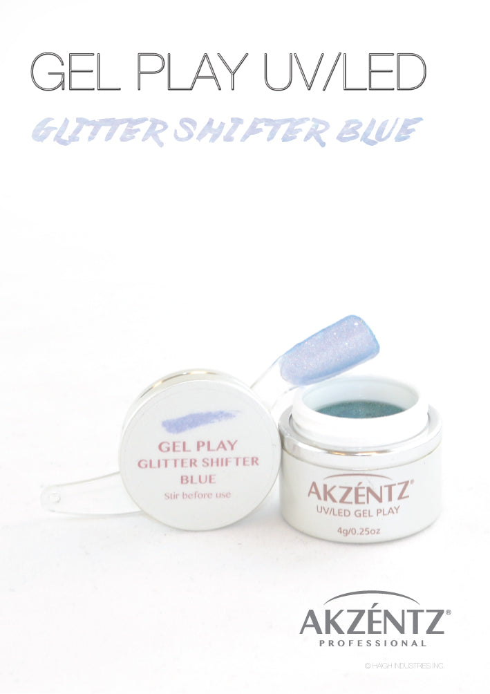 Glitter Shifter Blue - Akzentz Gel Play UV/LED