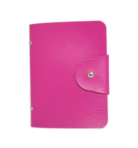 Pink Nail Stamp Plate Storage Folder - Faux Leather