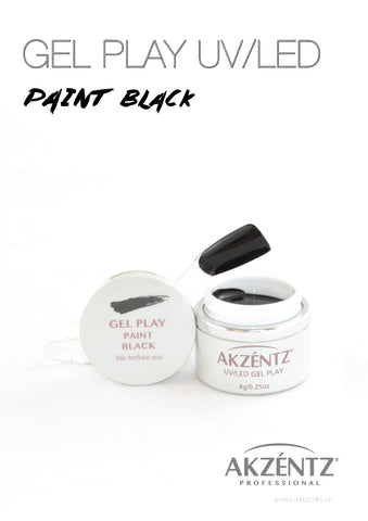 Paint Black - Akzentz Gel Play UV/LED