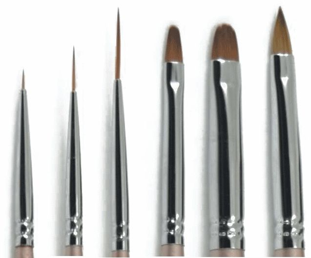 Long Gel Art Liner Brush #3 - LuvNailz