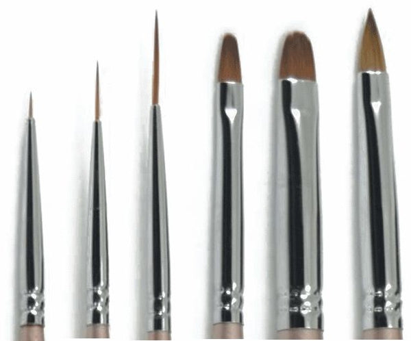 Gel Art Brush Set of 6 by Akzentz