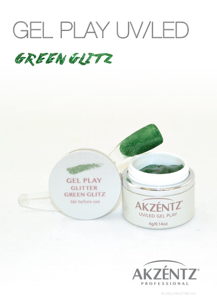 Glitter Green Glitz - Akzentz Gel Play UV/LED