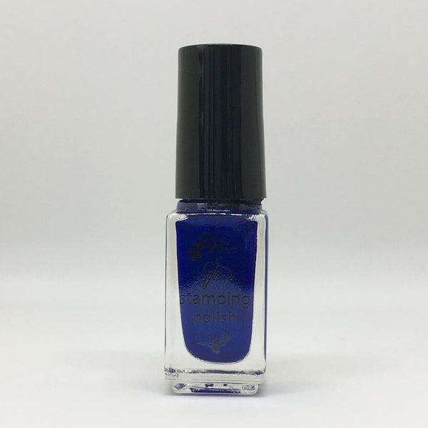 #32 Blue Right on By Stamping Polish