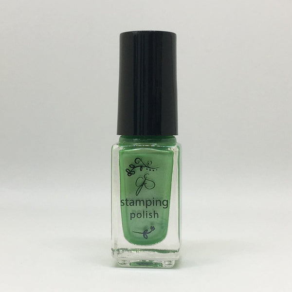 #43 Green means GO Stamping Polish