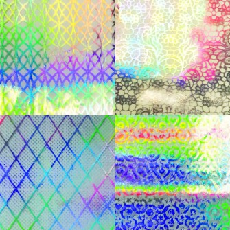 Holographic Lace Foil Set of 4
