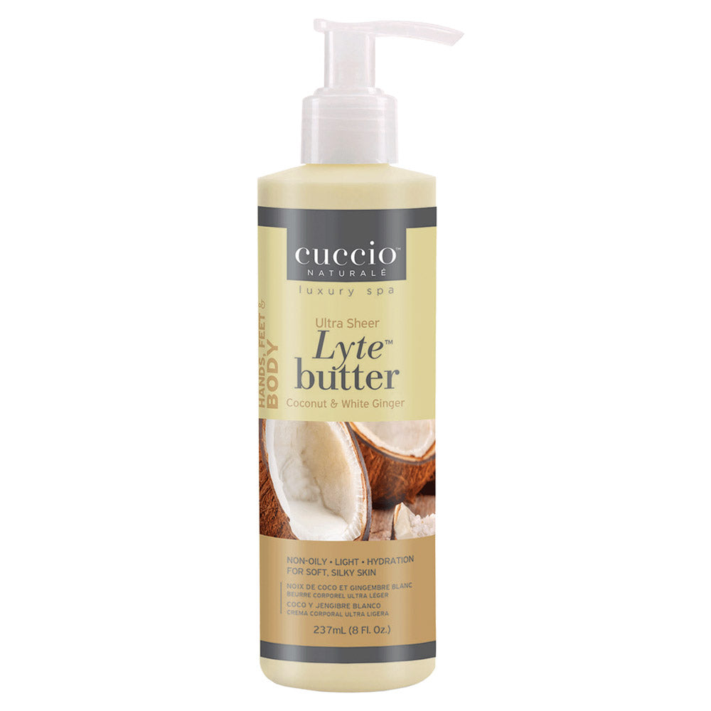 Cuccio Lyte Ultra-Sheer Body Butter Coconut & White Ginger