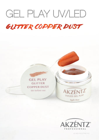 Glitter Copper Dust Metallic - Akzentz Gel Play UV/LED