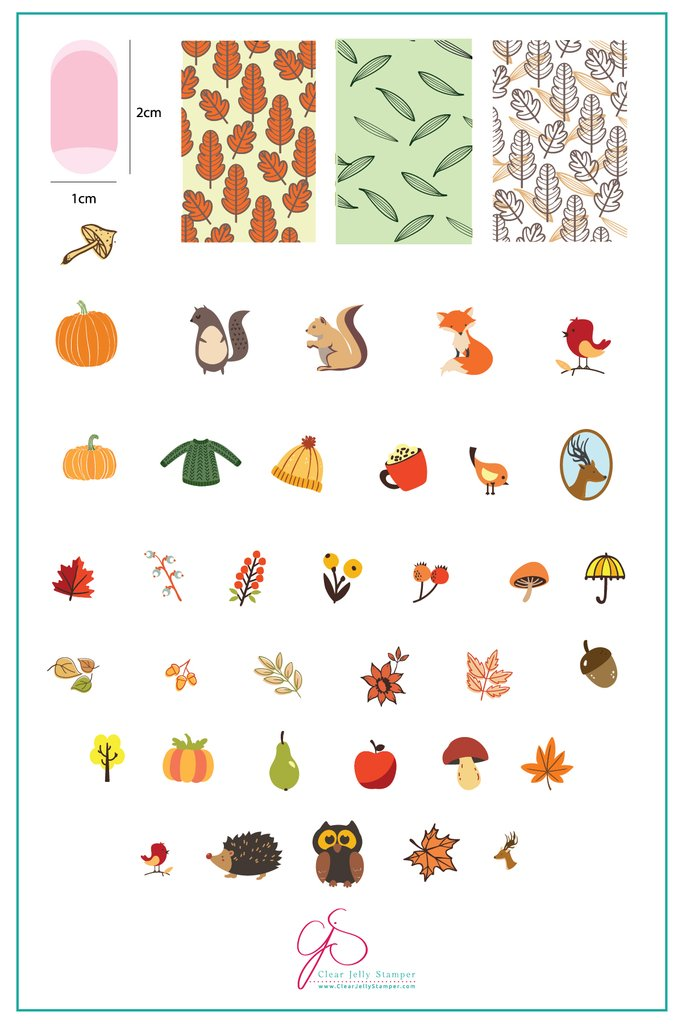 All About Autumn (CJS-88) - Clear Jelly Stamping Plate
