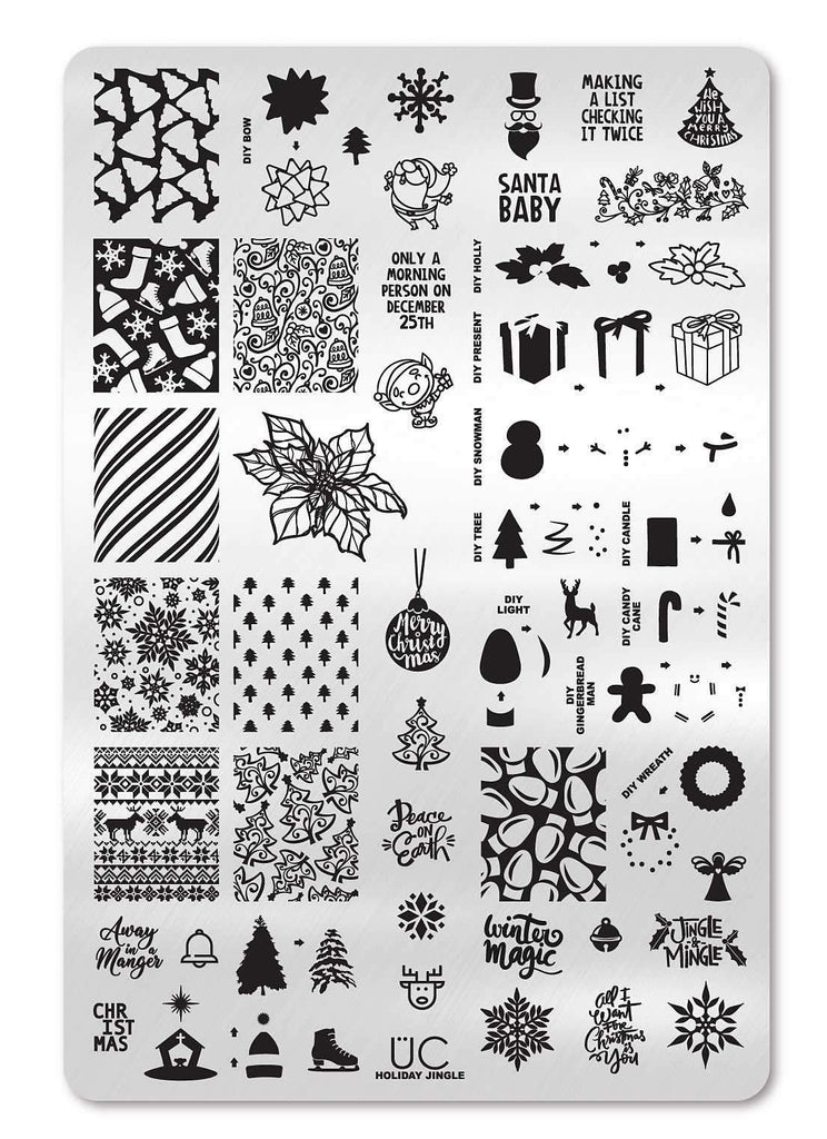 Holiday Jingle - Uber Chic Stamping Plate
