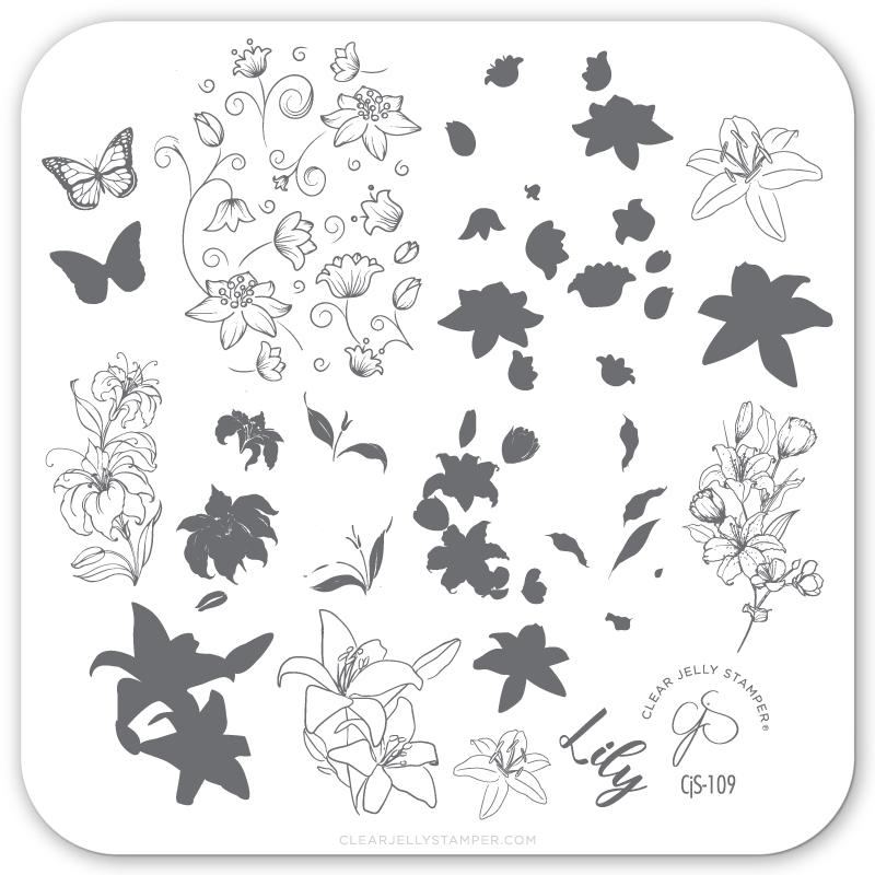 Lovely Lilies (CjS-109) - CJS Small Stamping Plate