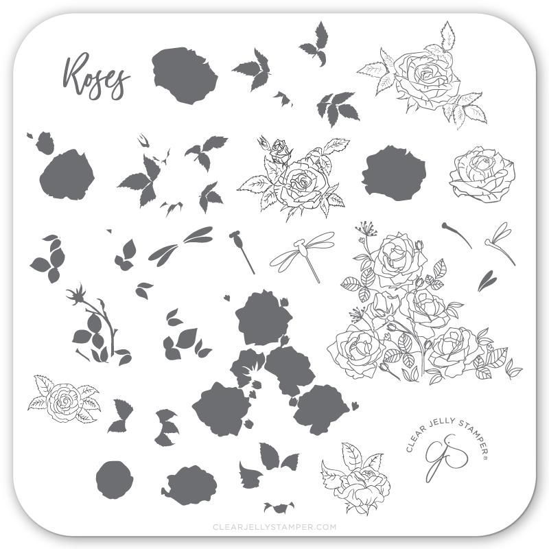 Painting the Roses Red (CjS-112) - CJS Small Stamping Plate