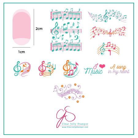 Musical Score (CjS-122) - CJS Small Stamping Plate