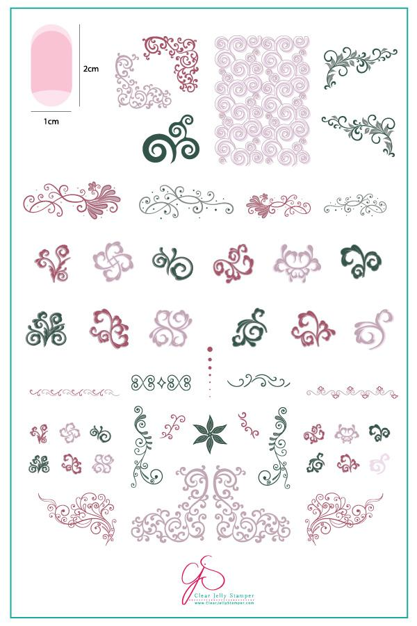 Put a Lil Swirl on it... part 1 (CjS 132) - Clear Jelly Stamping Plate