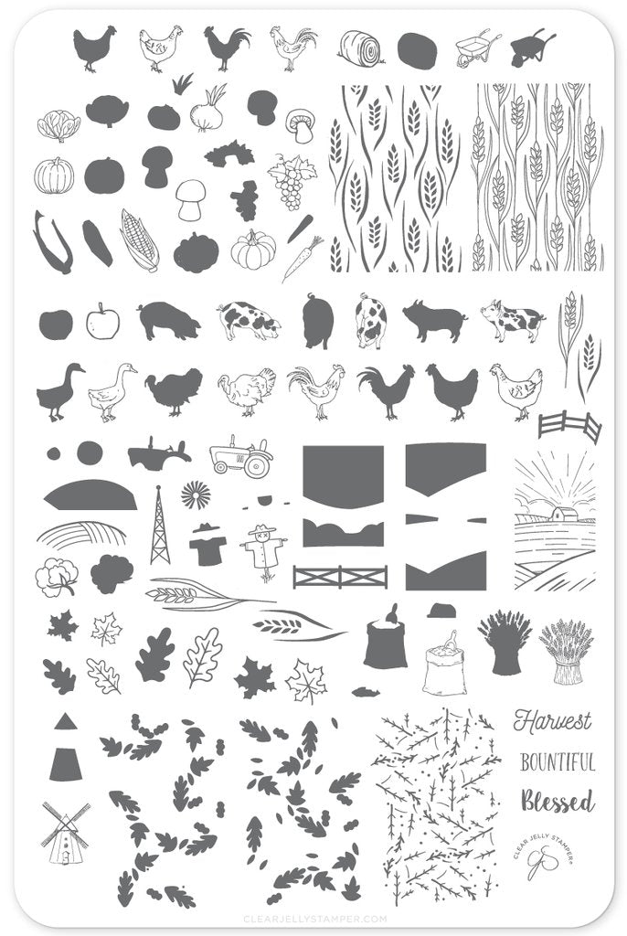 Harvest (CjS-138)  - Clear Jelly Stamping Plate
