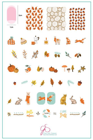 Autumn Acorns (CjS-148) - Clear Jelly Stamping Plate