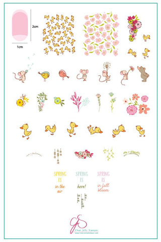 Spring is in the Air (CjS-95) - Clear Jelly Stamping Plate