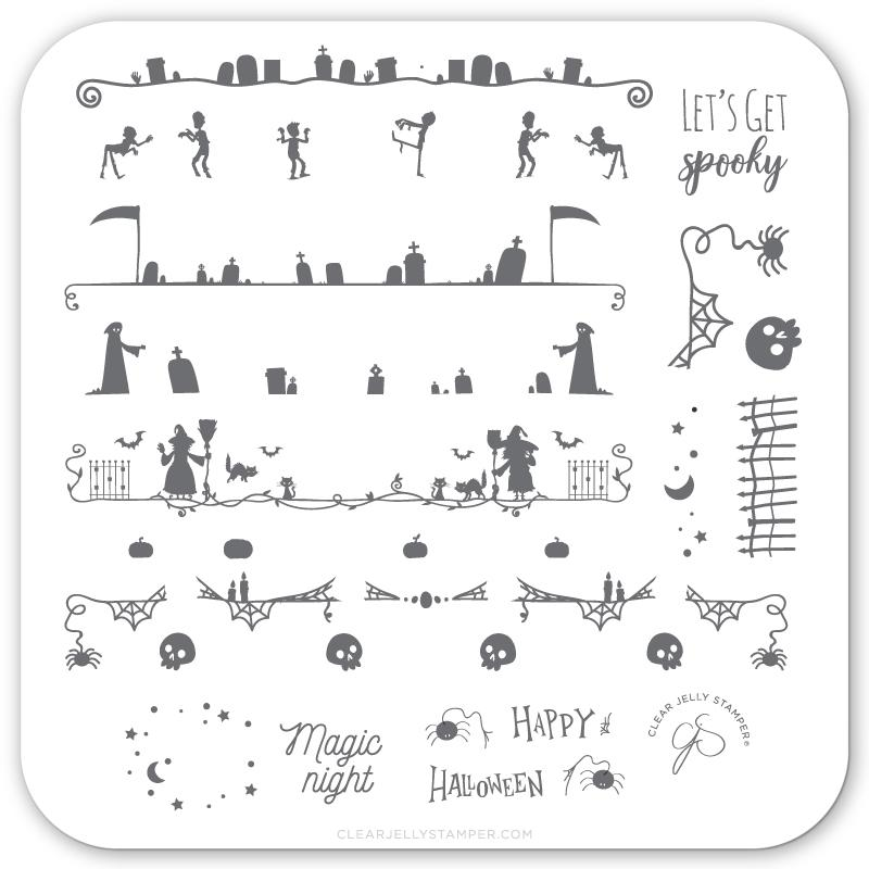 Let's Get Spooky! (CjSH-41) - CJS Small Stamping Plate