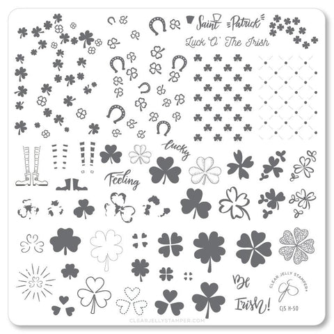 Feeling Lucky? (CjSH-50)  - CJS Medium Stamping Plate