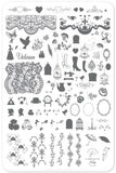 Suzie's Victorian Plate (CjS LC-45) -  Clear Jelly Stamping Plate