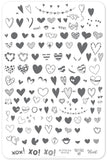 PS I Heart You! (CjS V-10) - Clear Jelly Stamping Plate