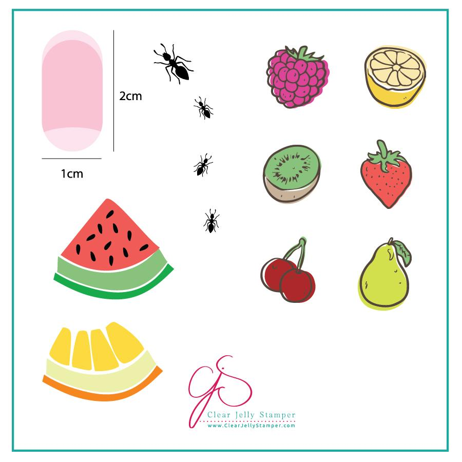 Fruit anyone? (CjS-63) - CJS Small Stamping Plate