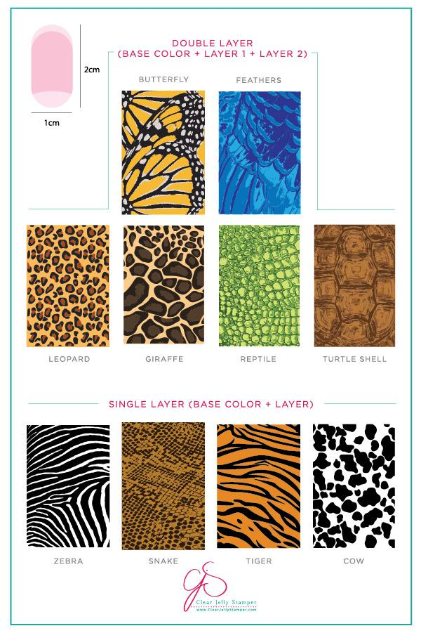 Texture Essentials - Wild Kingdom (CjS-77)  - Clear Jelly Stamping Plate